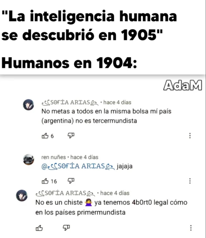 Argentina + Aborto = Argentina El doble de tercermundistas - meme