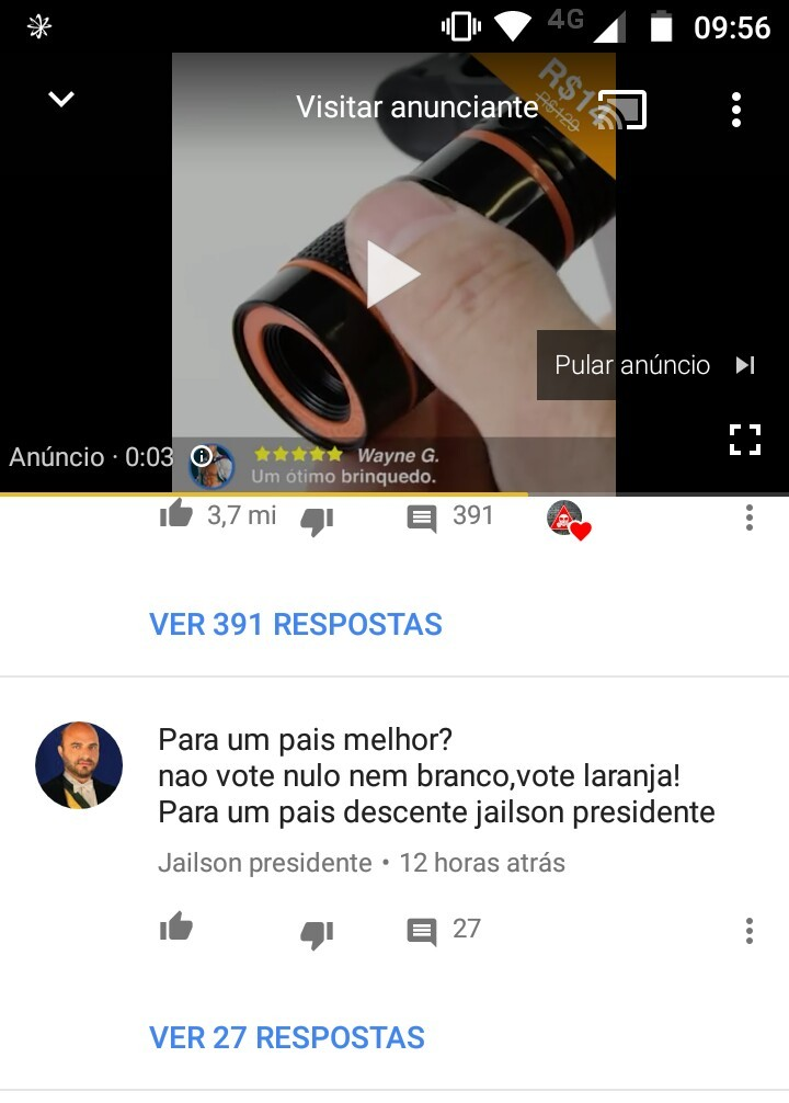 Vote Jaílson para presidento - meme