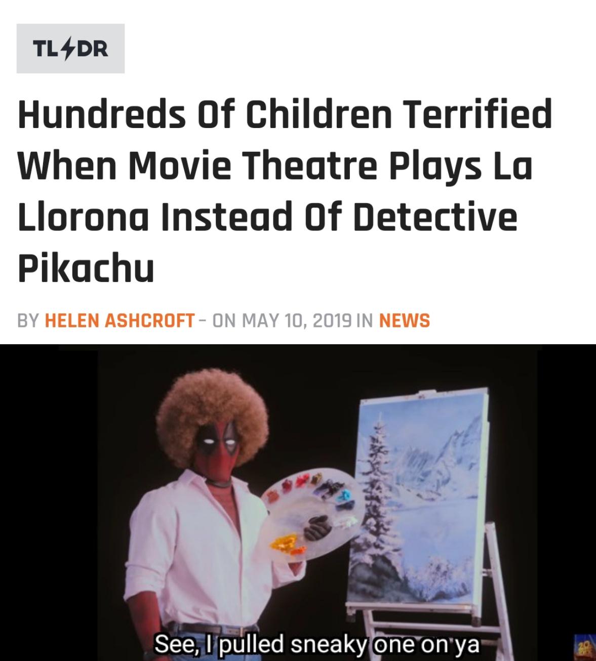 La Llorna=horror film - meme