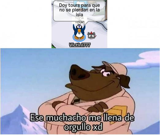 Yo en club penguin - meme