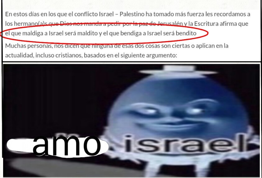 No odien a israel - meme