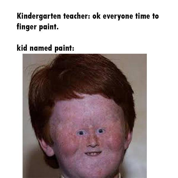 the little boy named paint - meme