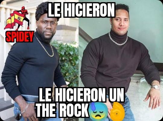 No me hagan un the rock porfavor  - meme