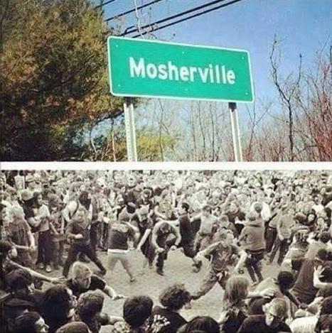 Mosh Pit land - meme