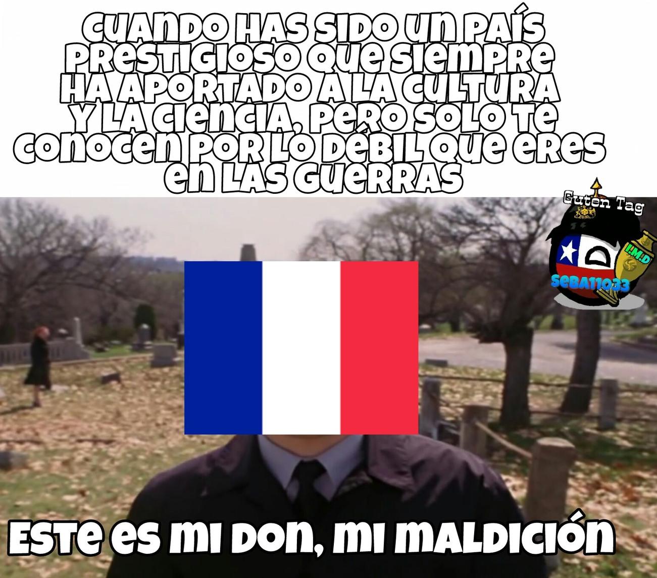 Viva la débil Francia - meme