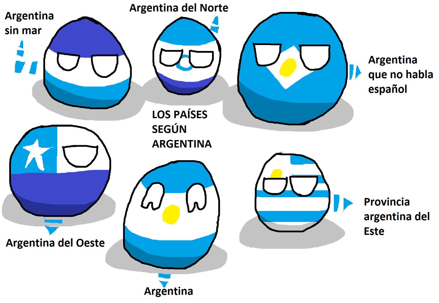 paises segun argentina - meme