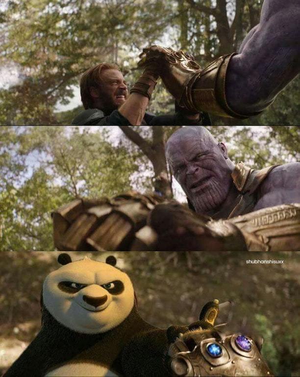 Kung fu panda is so strong - meme