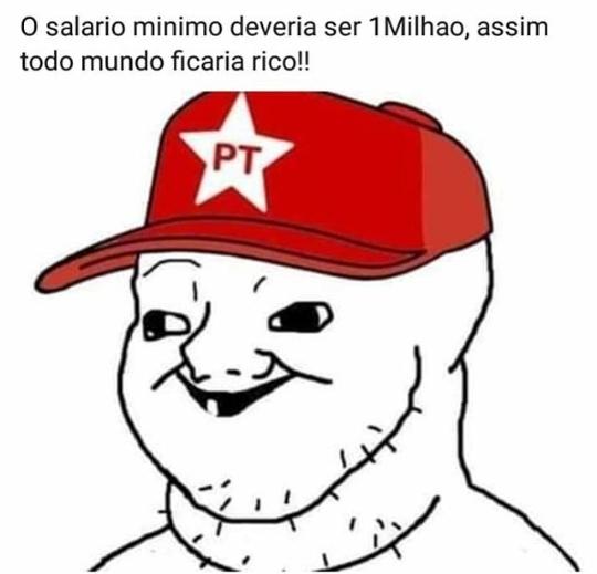 Para a riqueza do proletario - meme