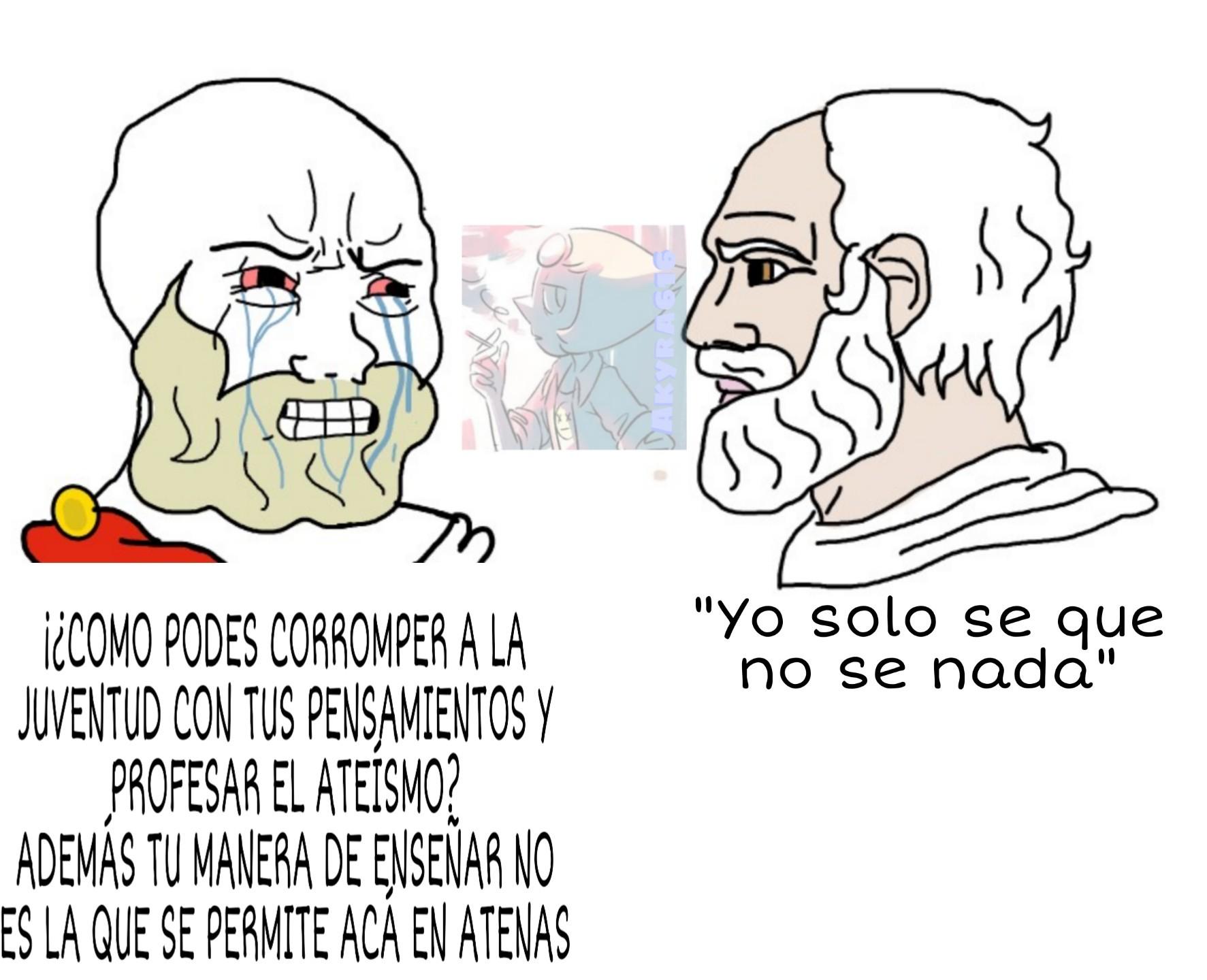 Un capo el Sócrates - meme