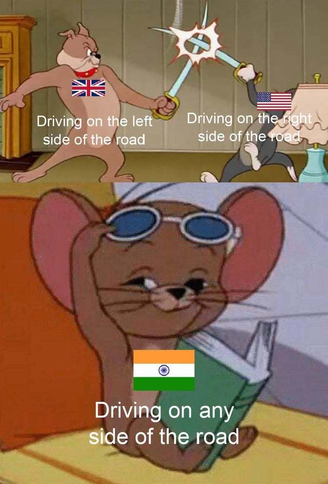 Driving in India - meme