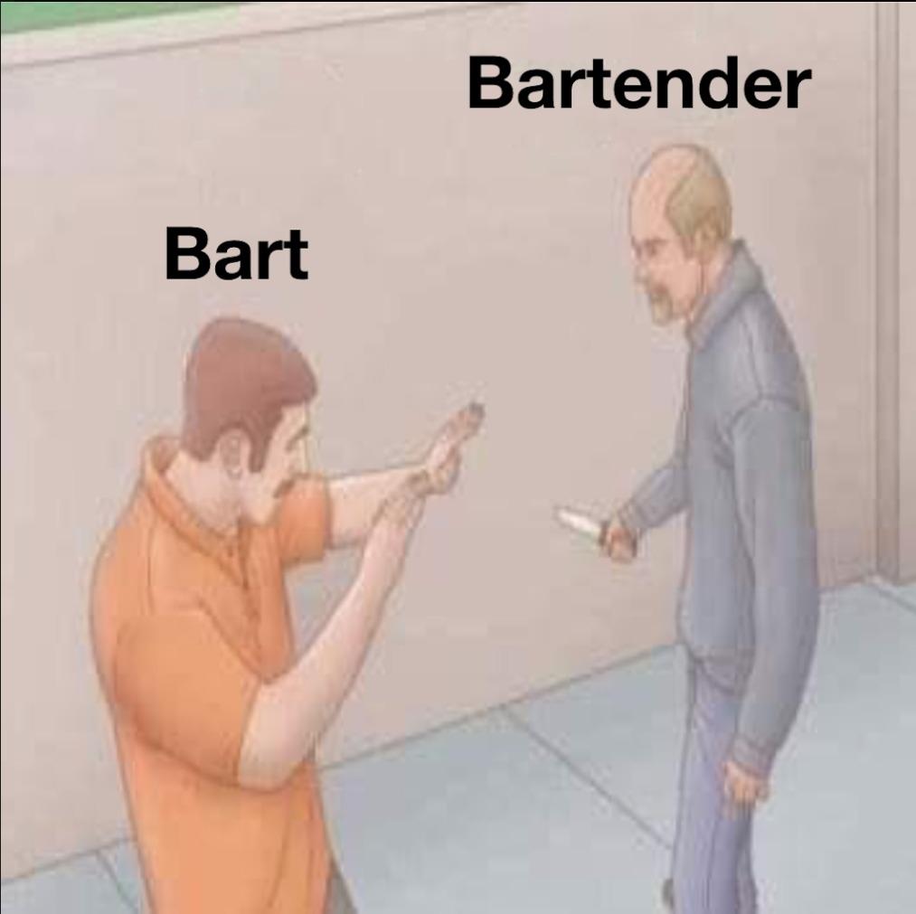 Noooooo, Baaaart watch out! - meme