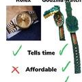 Rolex vs Godzilla watch