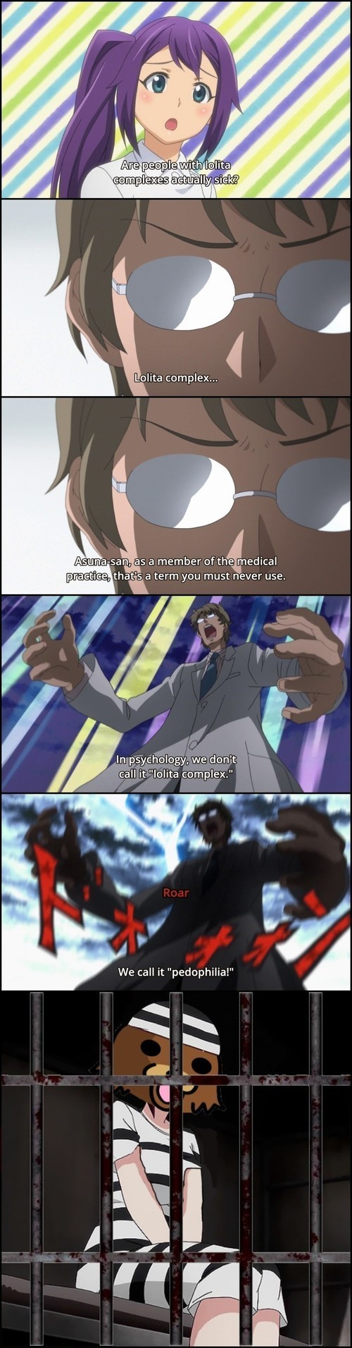 Downvote all comments. Anime:  Comical Psychosomatic Medicine