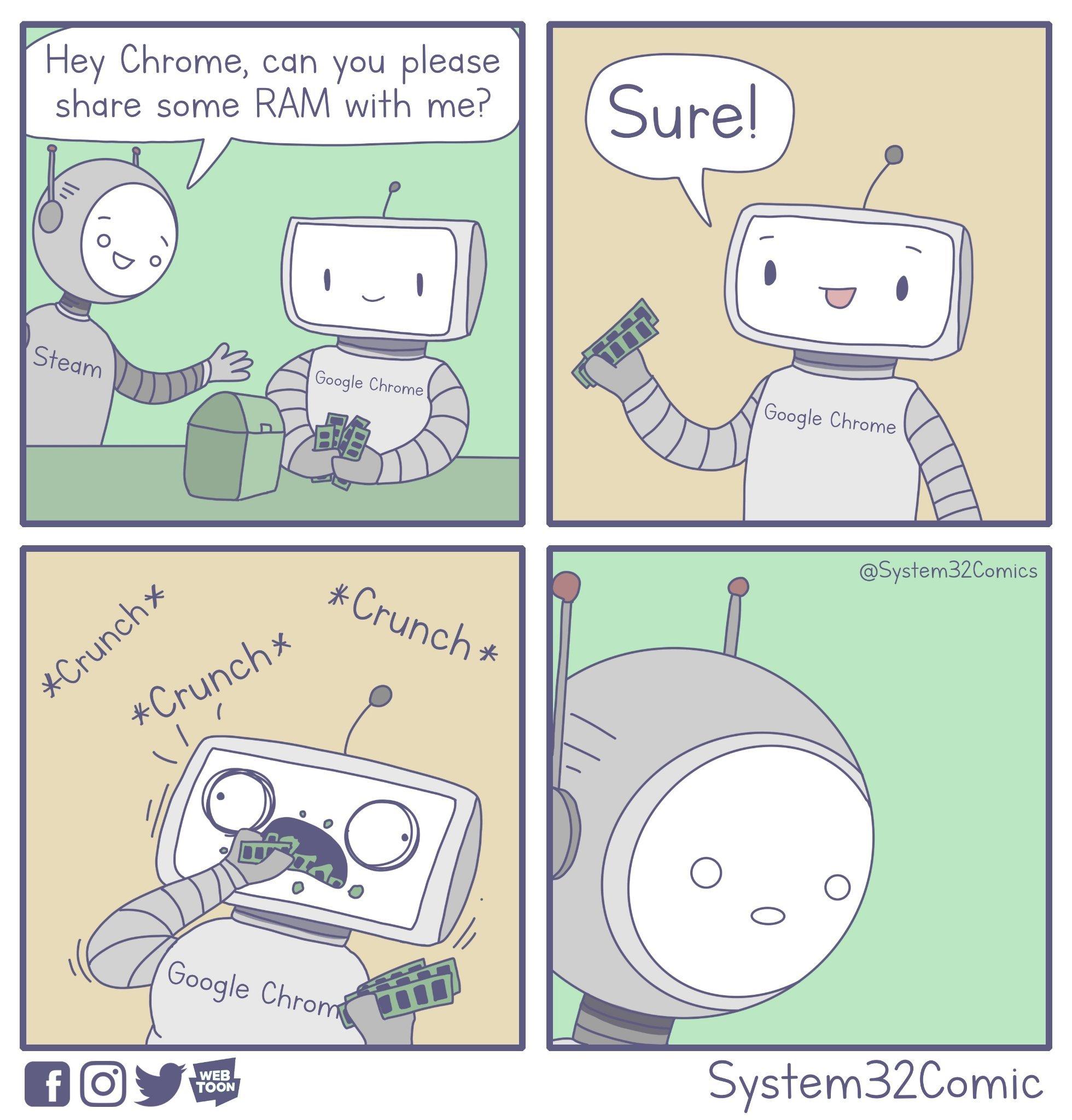 Sharing RAM [OC] - meme