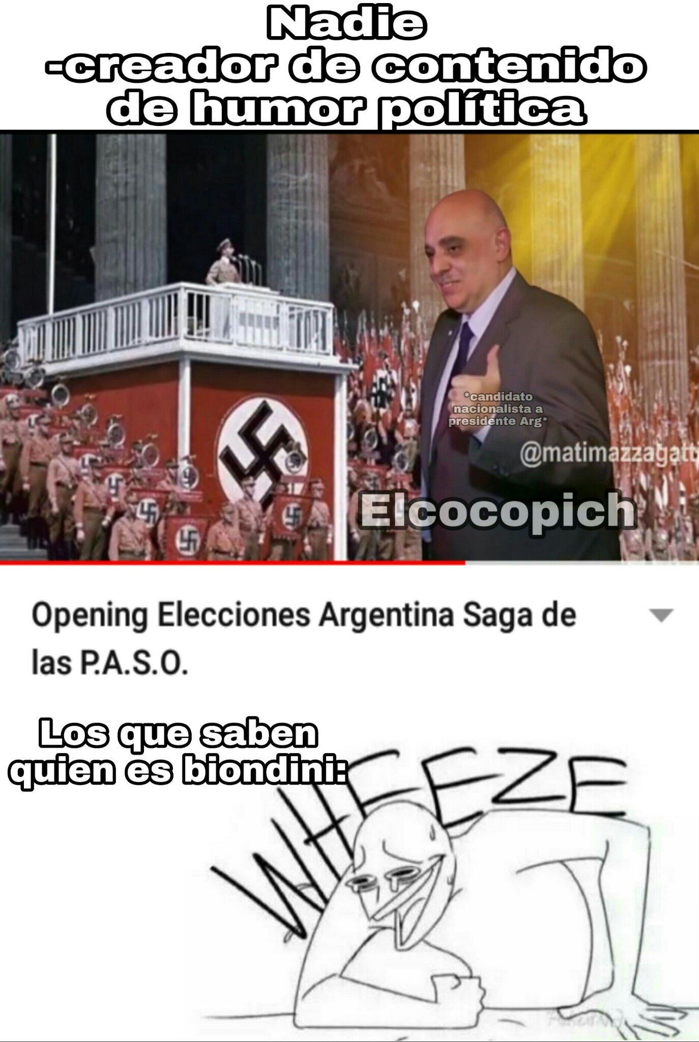 Biondini patriota, No es nazi - meme