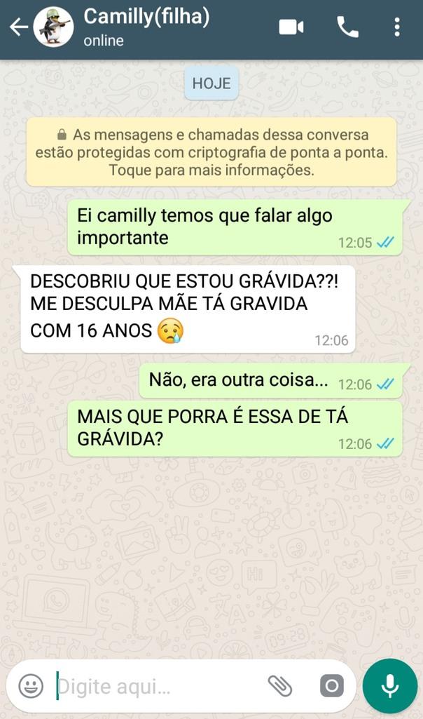 FILHA GRÁVIDA?! - meme