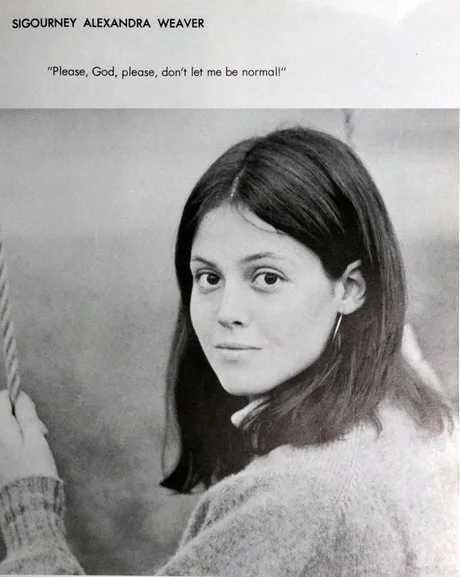 Sigourney Weaver long before she killed her first alien - meme
