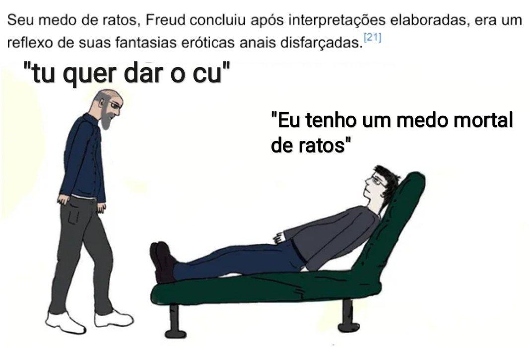 Freud cheirava 3 carreiras por dia - meme