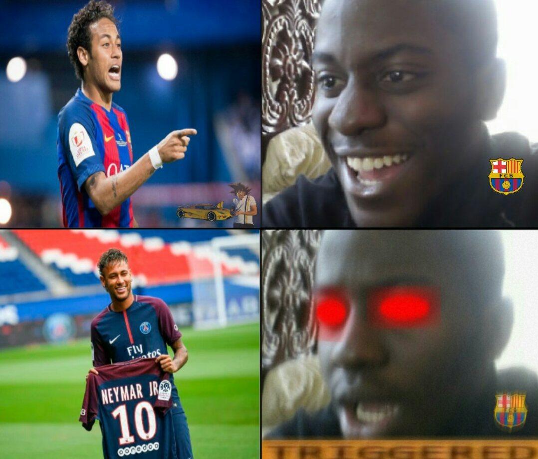 """""""Guarda che faccia,non se l'aspettava!"""" (Cit. Psg89); Secondo voi i 222 milioni di Neymar verranno superati? - meme"""