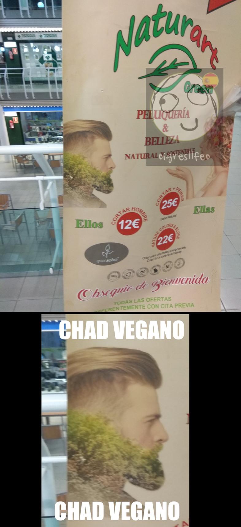Chad vegano - meme