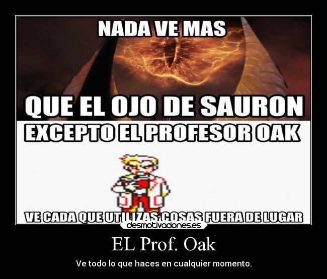 Sauron vs Oak - meme