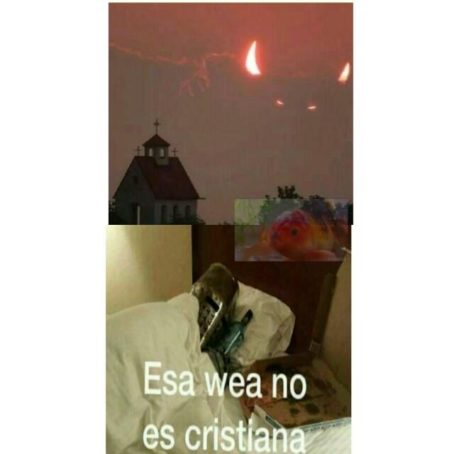El diablo viene a la iglesia - meme