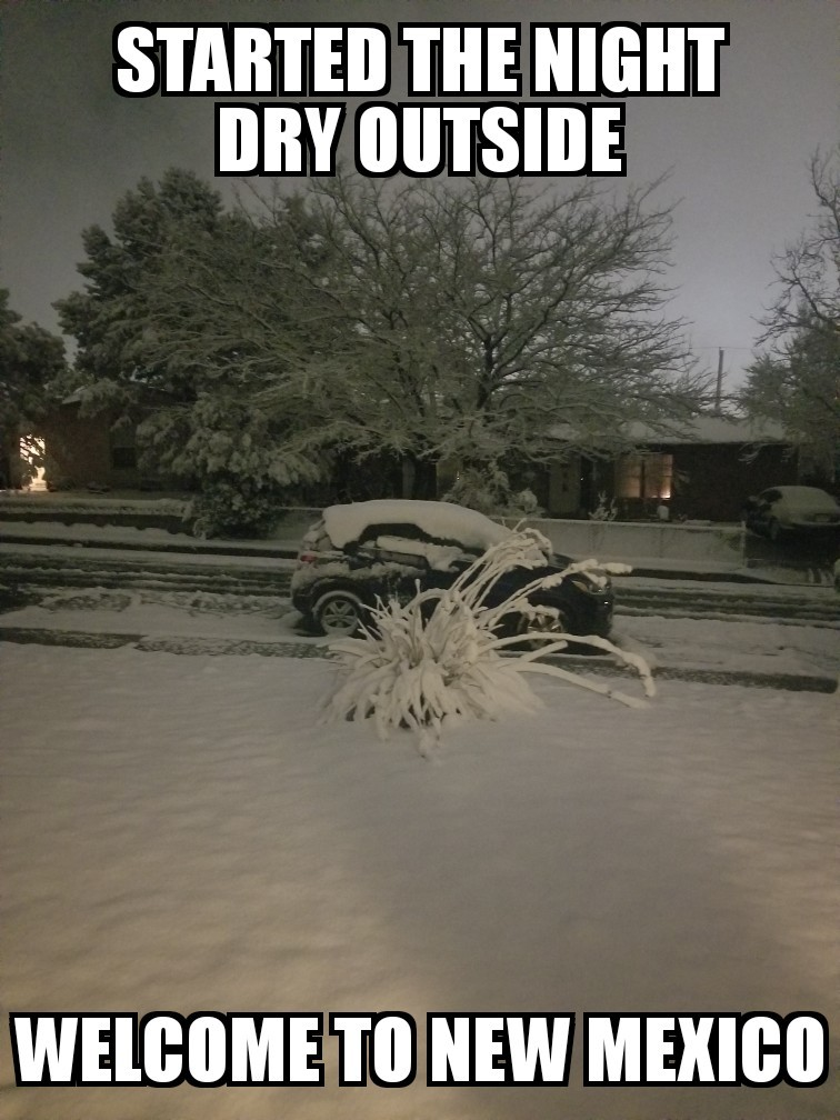 New Mexico weather. - meme