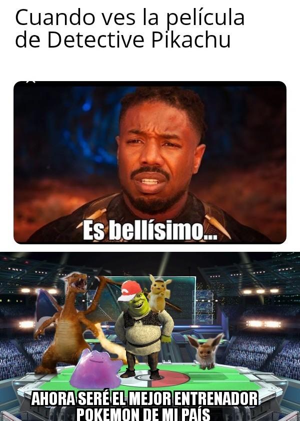 Me emociono la película de Detective Pikachu - meme
