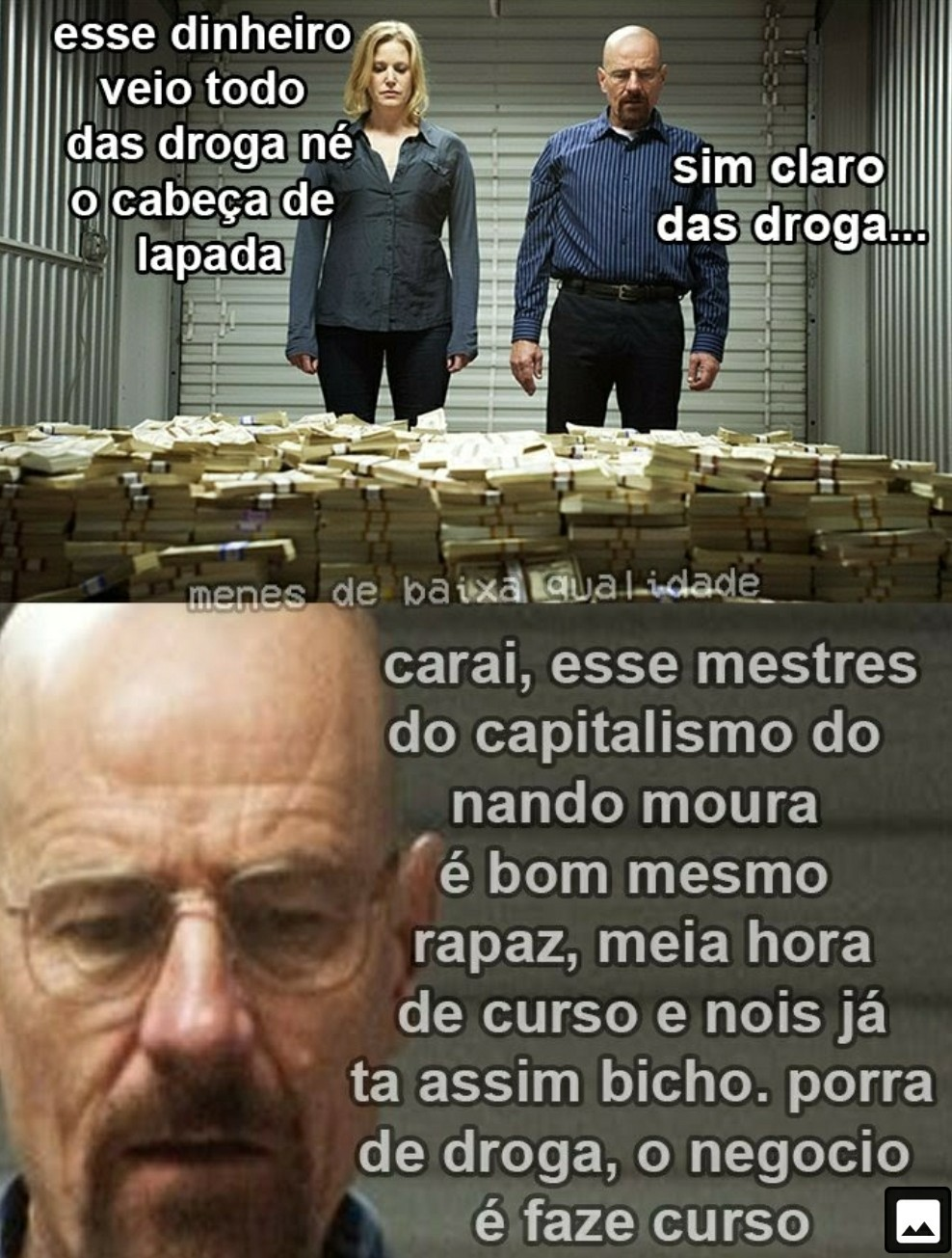 Mestres do capitalisto - meme