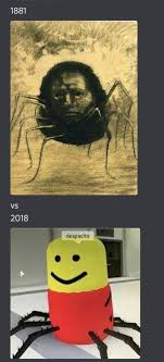 1881 vs 2018 (desposeto is being said by the oof monster) - meme