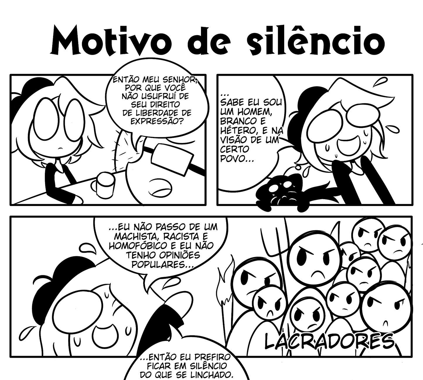 Motivo de silêncio - meme