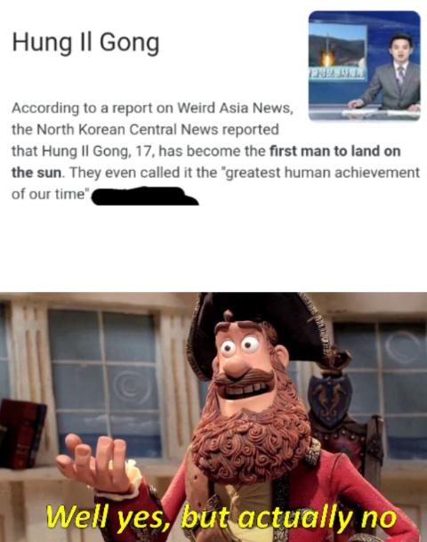 Nice try North Korea. - meme