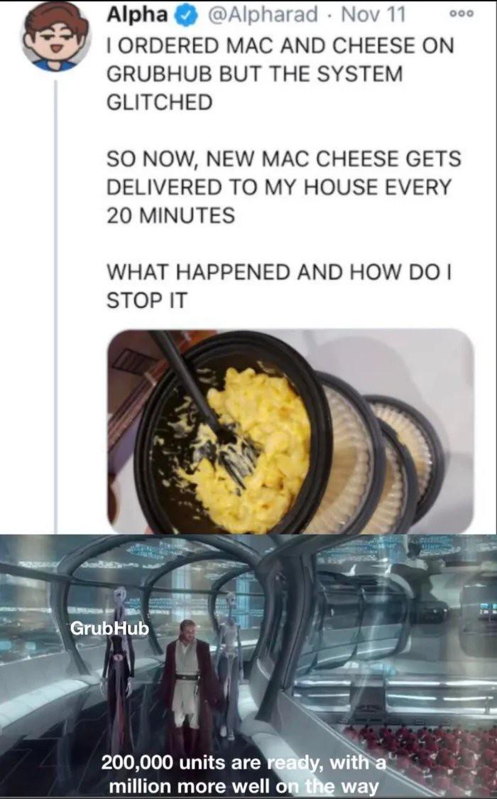grubhub glitch - meme
