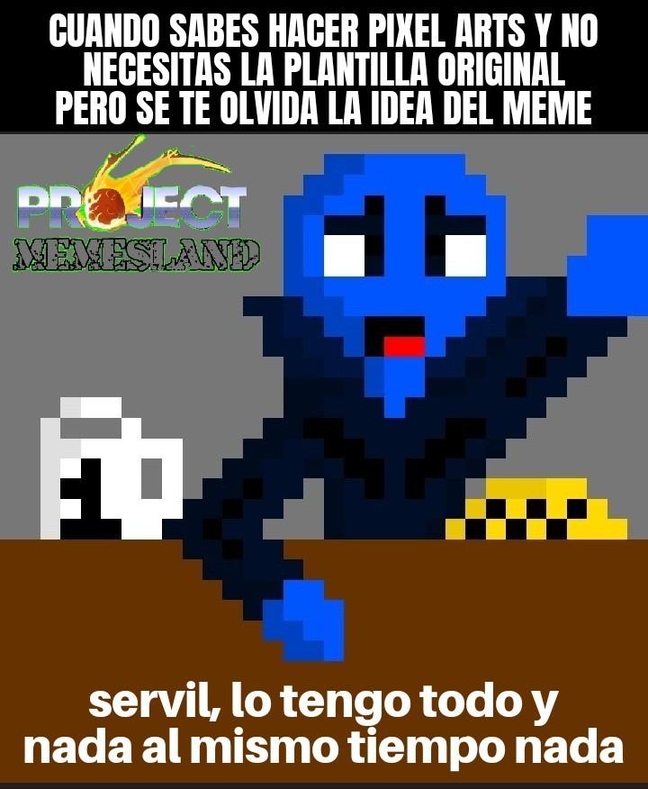 megamente, pd:yo hice el pixel art - meme
