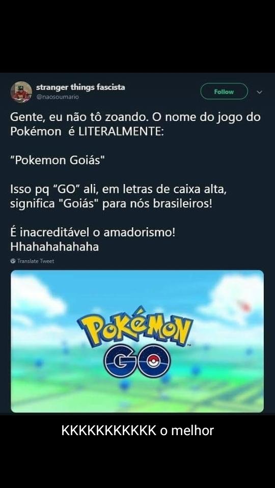 Pokémon Goiás - meme