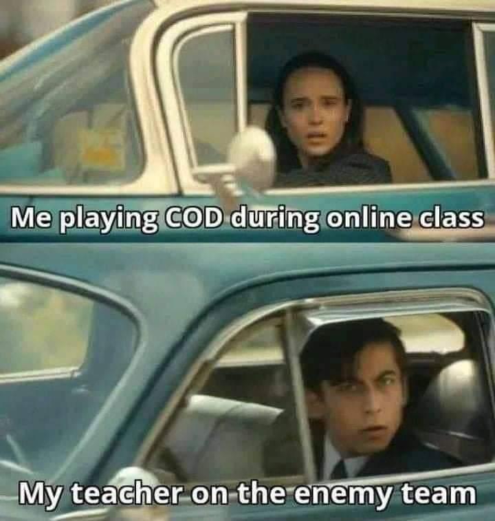 Enemy teacher UAV spotted - meme