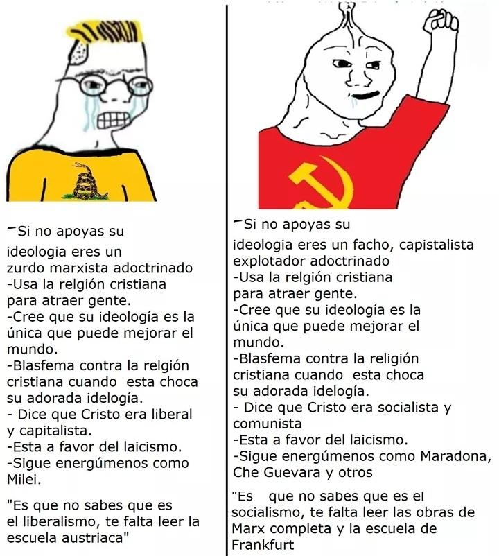 Los dos son la misma poronga :-) - meme
