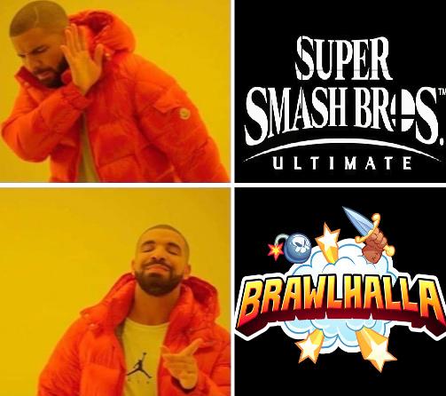contexto: brawlhalla es como super smash bros pero es una copia gratis muy divertido - meme