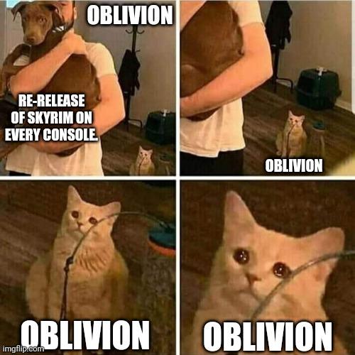 I like Skyrim but would love to see Oblivion love. - meme