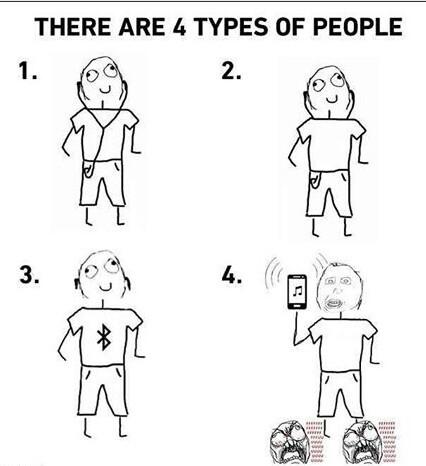 Les 4 types de personnes - meme
