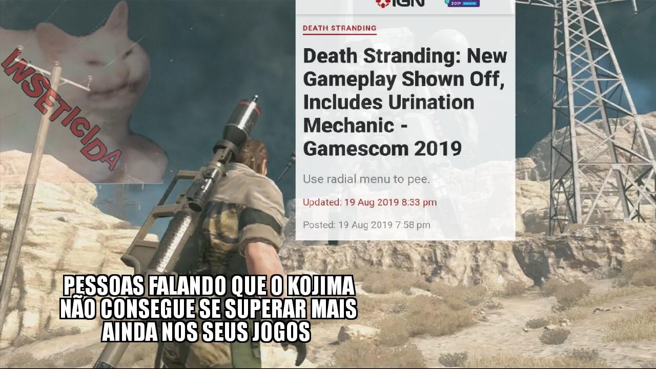 """""""Novo gameplay mostrado inclui Mecânicas de Urinação"""" - meme"""