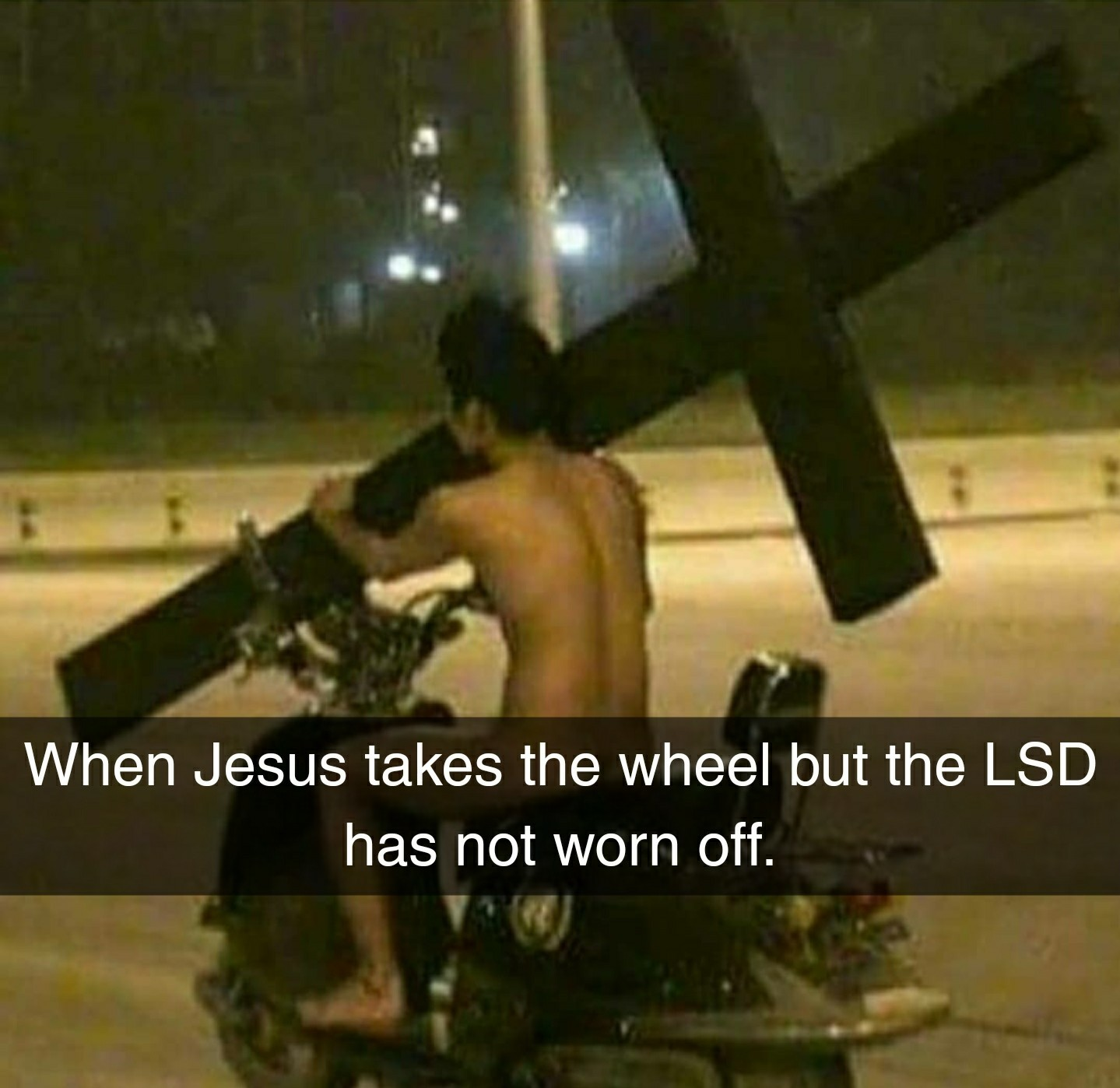 Jesus take the wheel... - meme