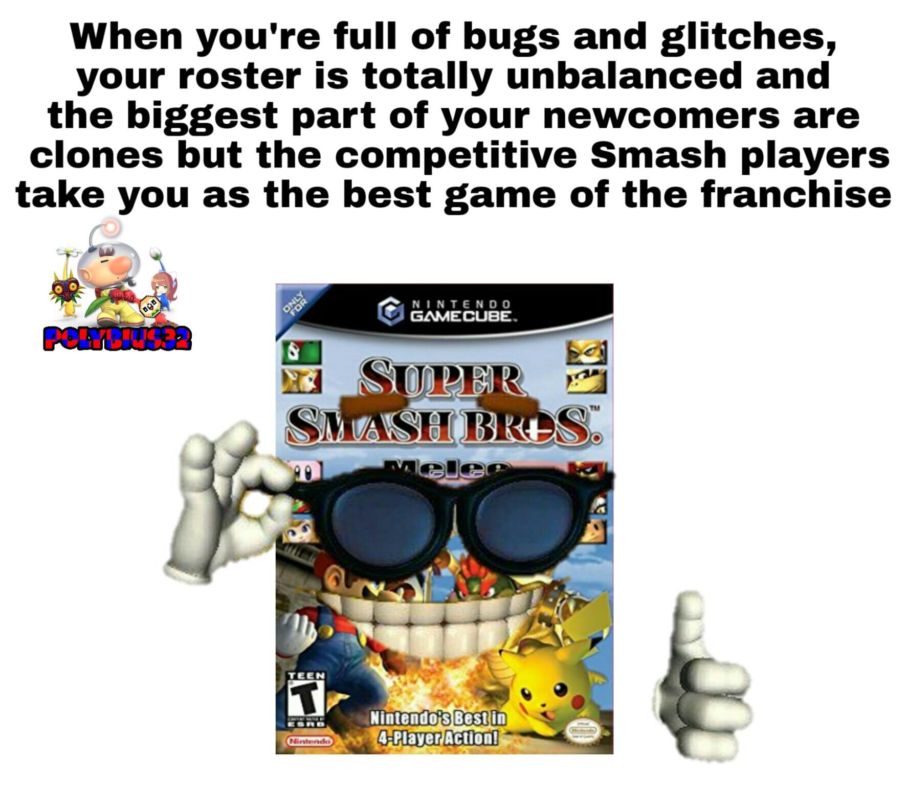 Meleefags in a nutshell - meme