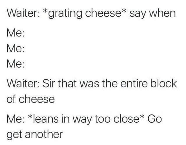 Only clever cheese puns allowed - meme