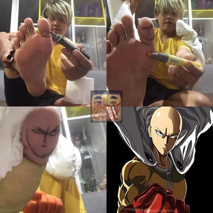 insérer un doigt de pied - meme