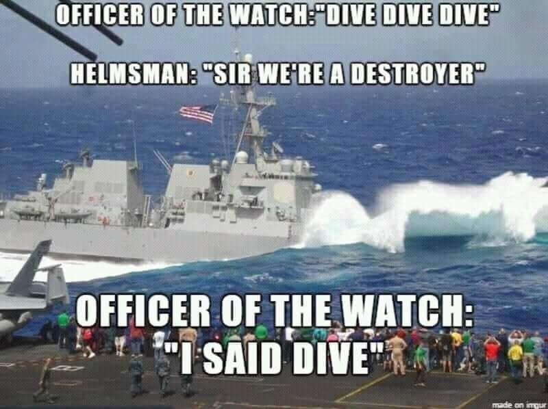 US Navy  (dive = plonger) - meme