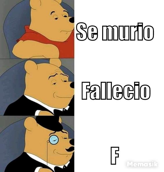 F en el chat - meme