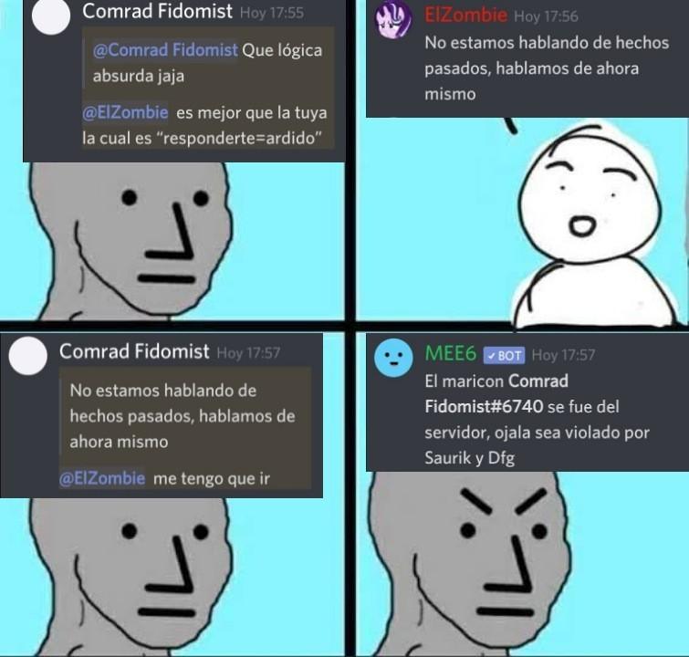 Comrad Fidomist in a nutshell - meme