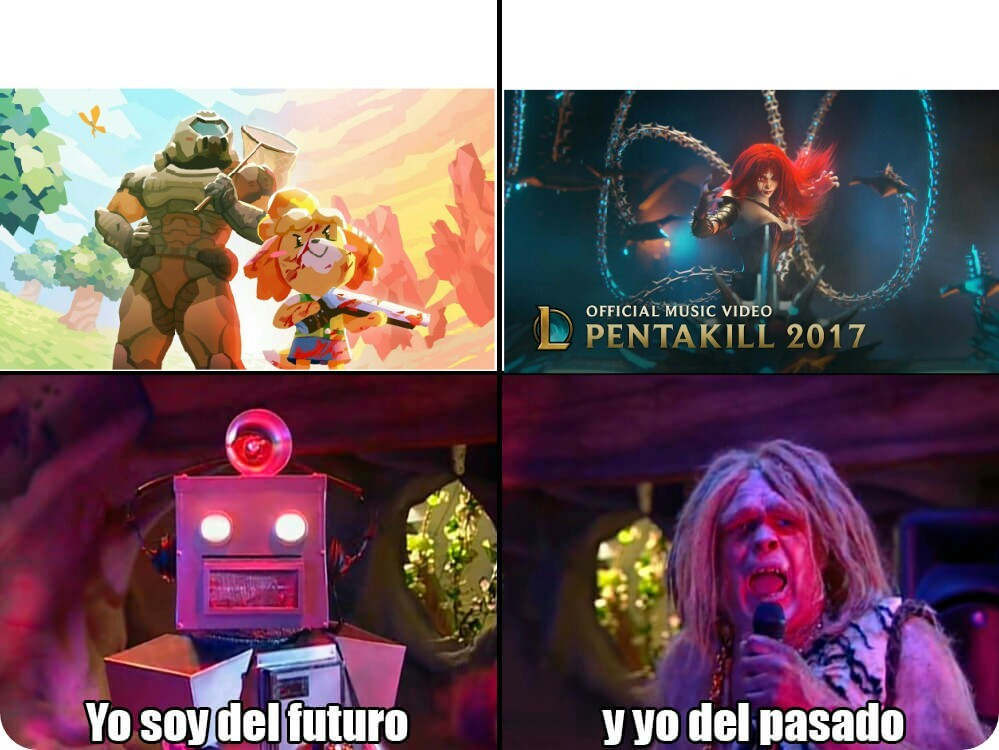 Ambas animaciones tienen un parecido Pd: Capitan Lento. - meme