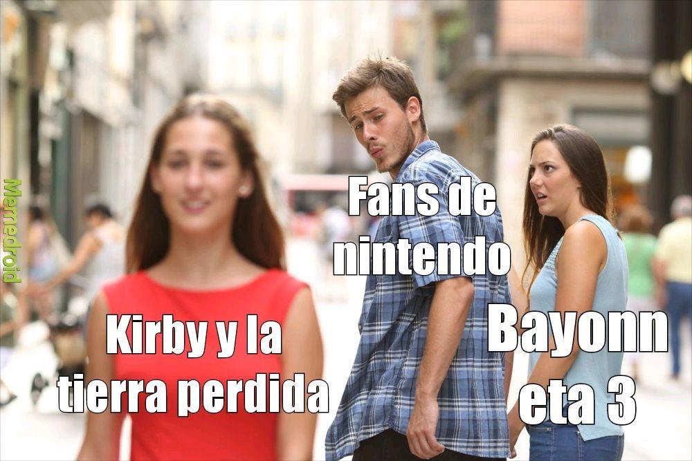 La verdad se ve más interesante el kirby - meme